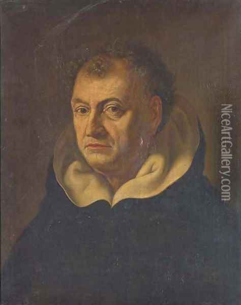 Portrait of a Dominican, bust-length Oil Painting - Fabre, Francois Xavier