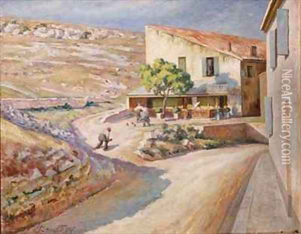 A Game of Bowls Oil Painting - Roger Eliot Fry