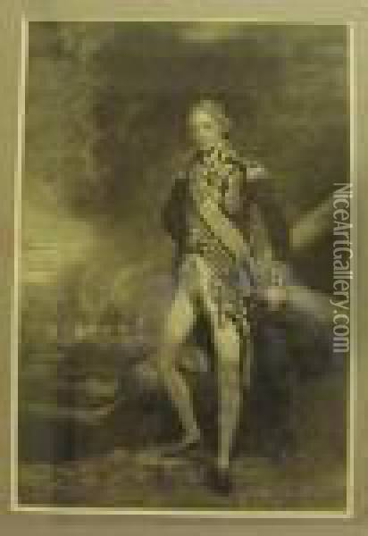Admiral Lord Nelson, Mezzotint Portrait Without Lettering. Oil Painting - Joseph Mallord William Turner