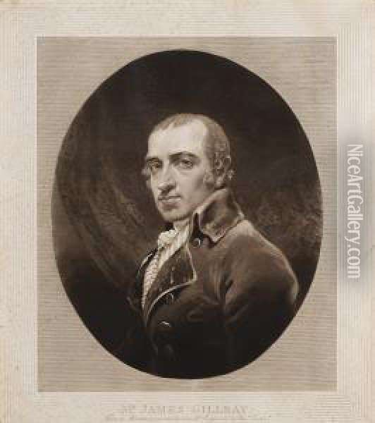 Mr James Gillray - From A Minature Painted By Himself Oil Painting - Joseph Mallord William Turner