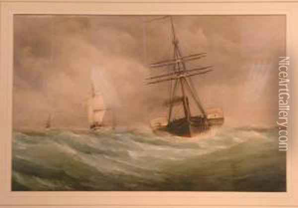 War Steamers Running Down Channel Oil Painting - Joseph Mallord William Turner