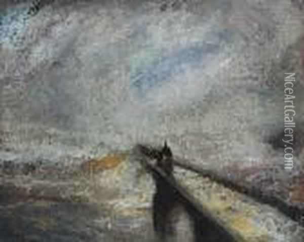 Rain, Steam, And Speed - The Great Western Railway Oil Painting - Joseph Mallord William Turner