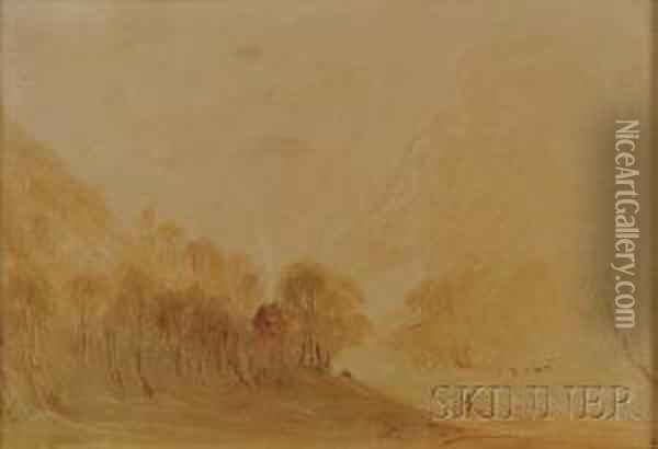 A Hazy Morning Oil Painting - Joseph Mallord William Turner