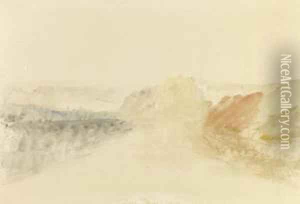 River Scene Oil Painting - Joseph Mallord William Turner