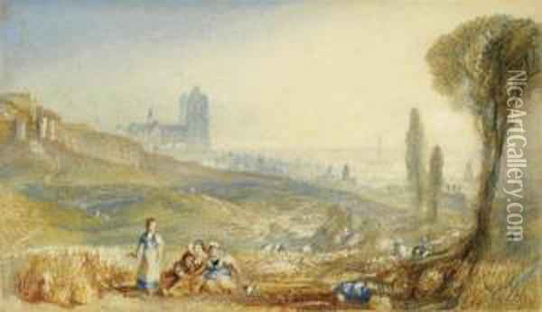 Brussels, A Distant View Oil Painting - Joseph Mallord William Turner