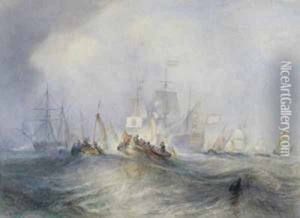 The Prince Of Orange, William Iii Embarked From Holland, Landed At Torbay Oil Painting - Joseph Mallord William Turner