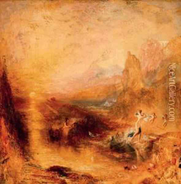 Glaucus And Scylla Oil Painting - Joseph Mallord William Turner