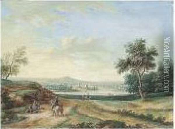 A Panoramic Landscape, With A 