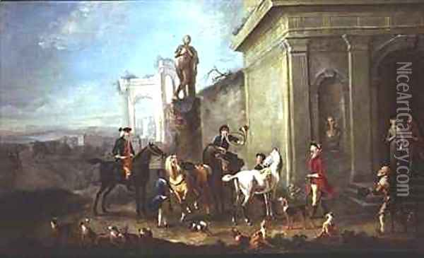 Ready for the Hunt Oil Painting - Carel van Falens or Valens