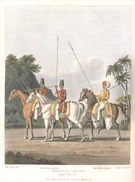 Irregular Cavalry Bengal Army Oil Painting - Fitzclarence, George Augustus
