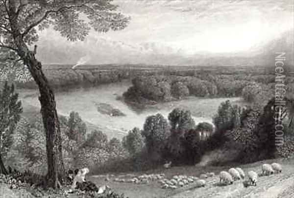 The Thames from Richmond Hill Oil Painting - Myles Birket Foster