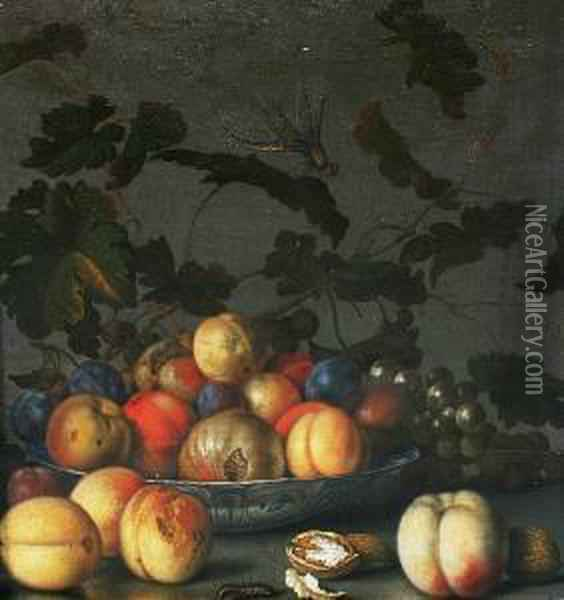 Wan-li-kraak Oil Painting - Balthasar Van Der Ast