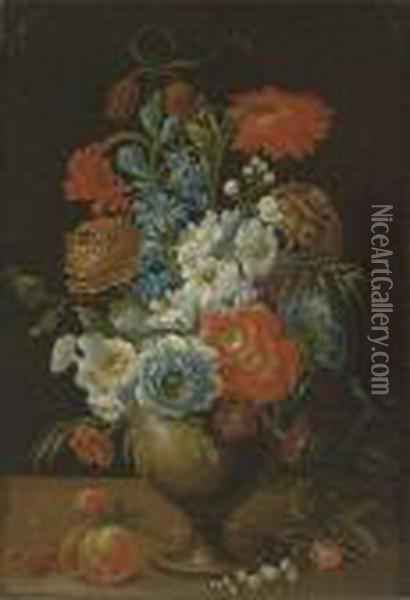 Roses, Carnations, Daffodils And