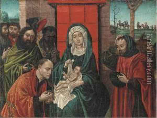 The Adoration Of The Magi Oil Painting - Follower of Hugo van der Goes