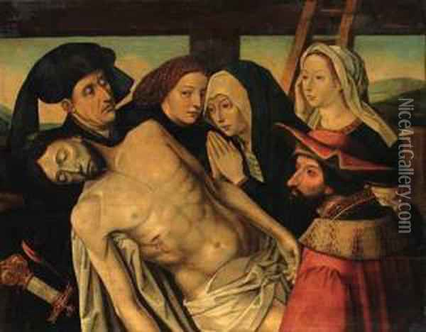 The Lamentation Oil Painting - Follower of Hugo van der Goes