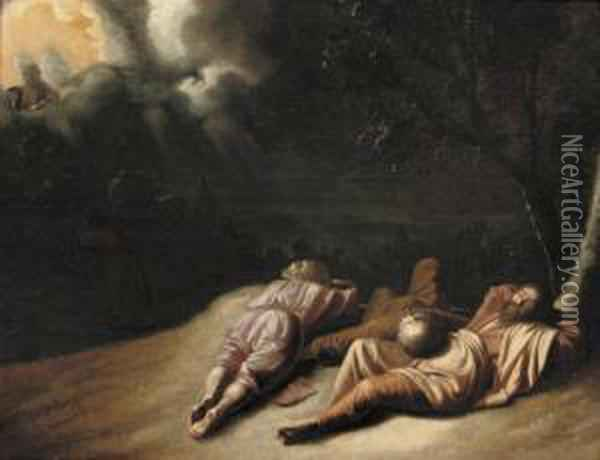 The Agony In The Garden Oil Painting - Jacob van Loo