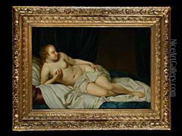 Danae Oil Painting - Jacob van Loo