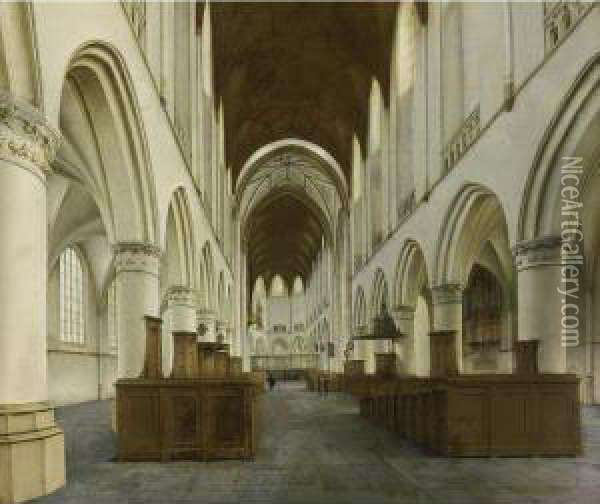 Haarlem: The Interior Of The St. Bavo Oil Painting - Hendrick Van Vliet