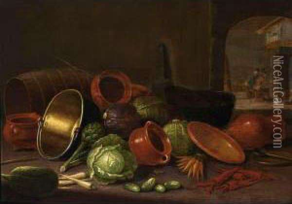 A Still Life With Earthenware 