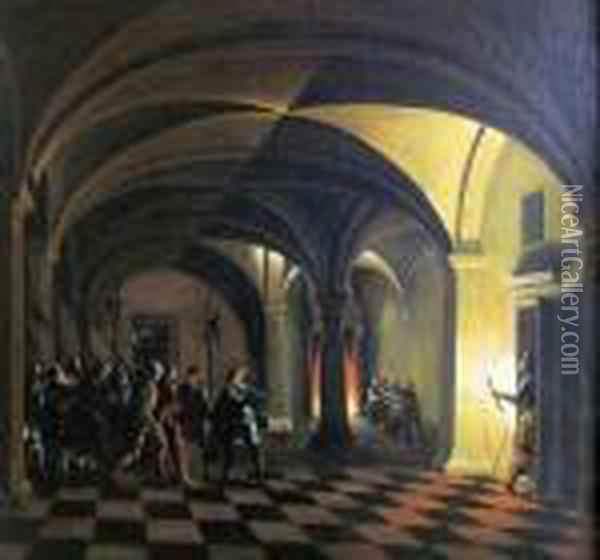 Church Interior Oil Painting - Hendrick van, the Younger Steenwyck