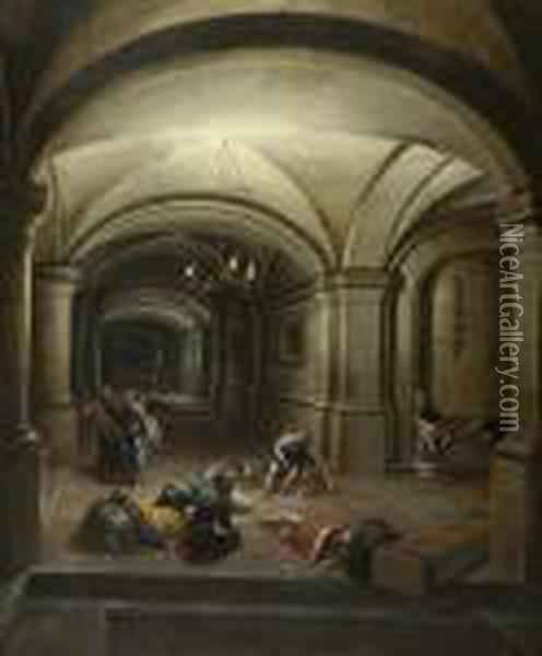The Release Of Saint Peter From Prison. Oil Painting - Hendrick van, the Younger Steenwyck