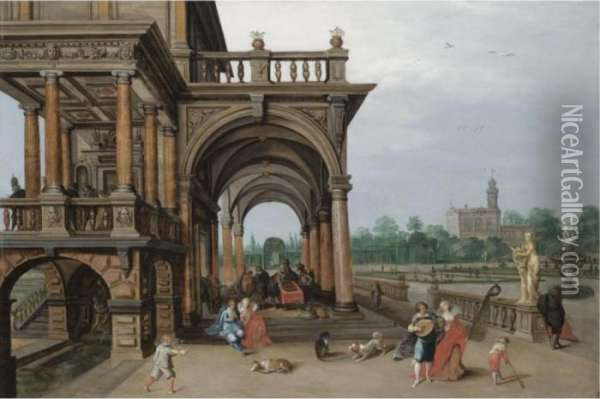 The Gardens Of A Palace, With 