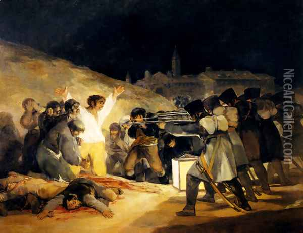 May 3 1808 Oil Painting - Francisco De Goya y Lucientes