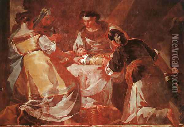Birth Of The Virgin Oil Painting - Francisco De Goya y Lucientes