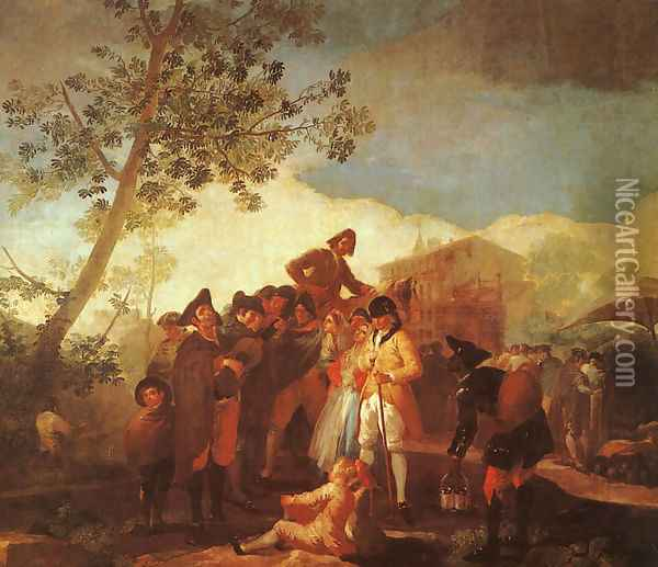 Blind Man Playing The Guitar Oil Painting - Francisco De Goya y Lucientes