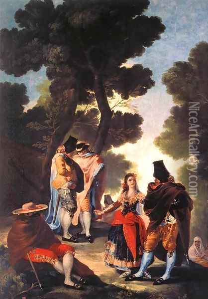 A Walk In Andalusia Oil Painting - Francisco De Goya y Lucientes