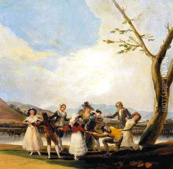 Blind Man's Buff Oil Painting - Francisco De Goya y Lucientes