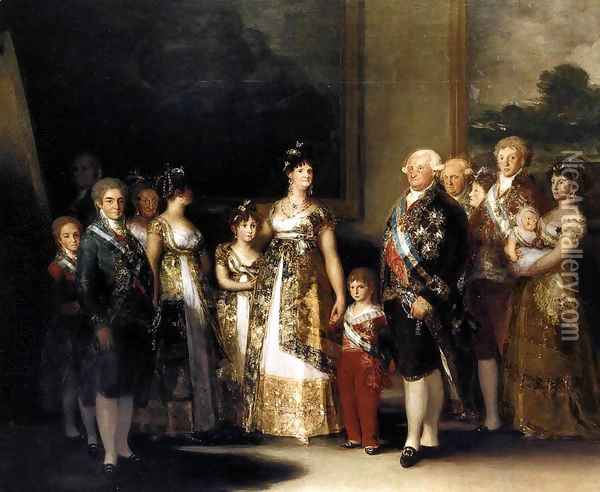 Charles IV And His Family Oil Painting - Francisco De Goya y Lucientes