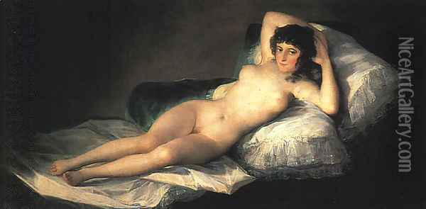 Nude Maja Oil Painting - Francisco De Goya y Lucientes