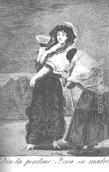 Caprichos Plate 16 For Heavens Sake And It Was Her Mother Oil Painting - Francisco De Goya y Lucientes