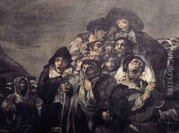 A Pilgrimage to San Isidro (detail 1) Oil Painting - Francisco De Goya y Lucientes