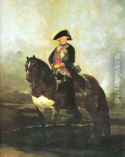 Portrait of Carlos IV with a horse Oil Painting - Francisco De Goya y Lucientes