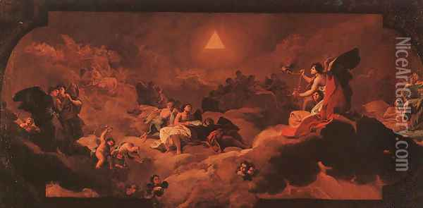 The Adoration Of The Name Of The Lord Oil Painting - Francisco De Goya y Lucientes