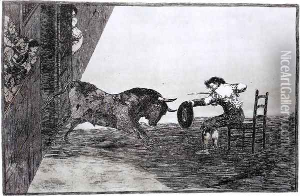 The Bravery of Martincho in the Ring of Saragassa (Tauromaquia 18) Oil Painting - Francisco De Goya y Lucientes