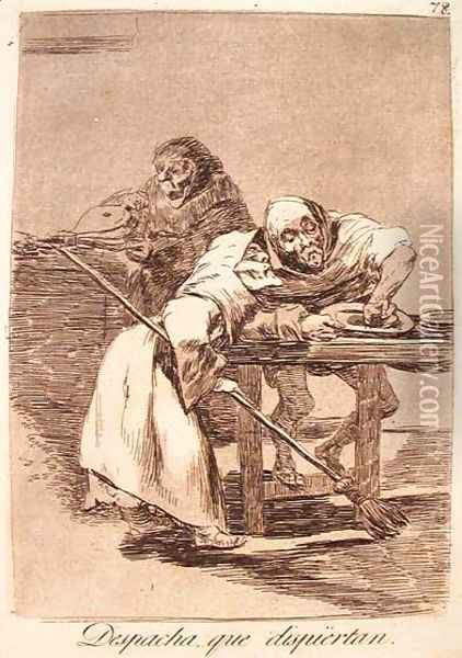 Be Quick, They Are Waking up Oil Painting - Francisco De Goya y Lucientes