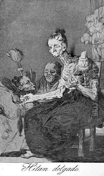 Caprichos Plate 44 They Spin Finely Oil Painting - Francisco De Goya y Lucientes