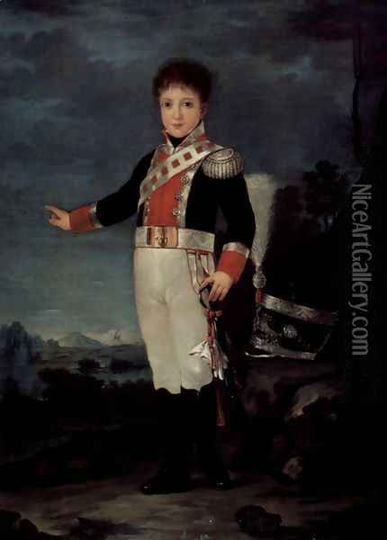 Portrait of Don Sebastian Gabriel de Borbón Oil Painting - Francisco De Goya y Lucientes