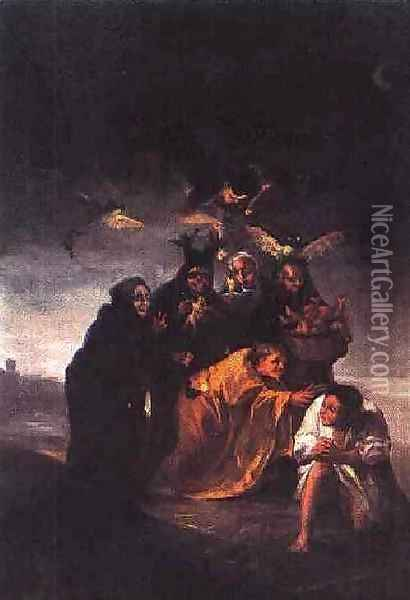 The Conjuration Oil Painting - Francisco De Goya y Lucientes