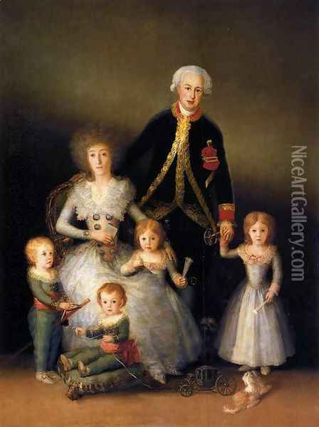 The Family Of The Duke Of Osuna Oil Painting - Francisco De Goya y Lucientes