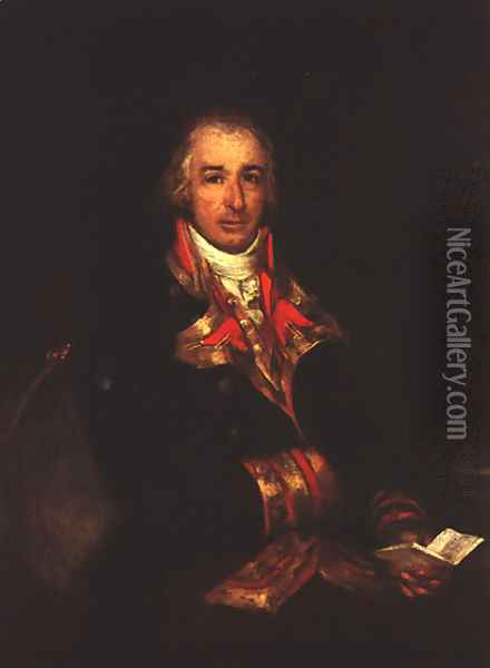 Portrait Of Don Jose Queralto Oil Painting - Francisco De Goya y Lucientes