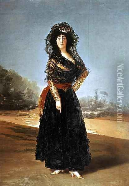 Portrait of the Duchess of Alba Oil Painting - Francisco De Goya y Lucientes