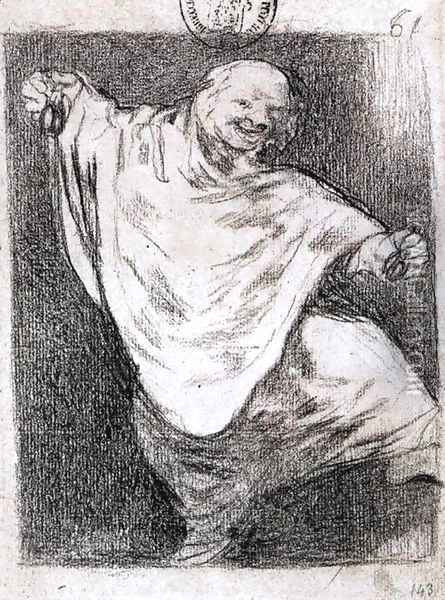 Phantom Dancing with Castanets Oil Painting - Francisco De Goya y Lucientes