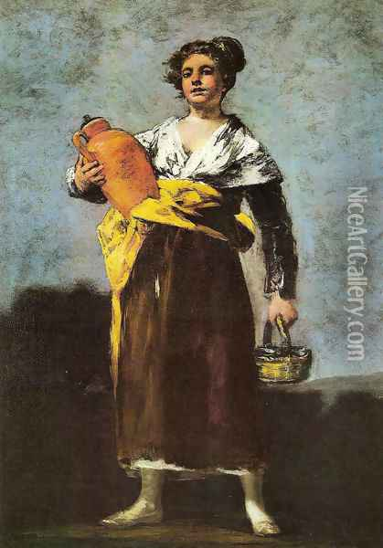 Water Carrier Oil Painting - Francisco De Goya y Lucientes