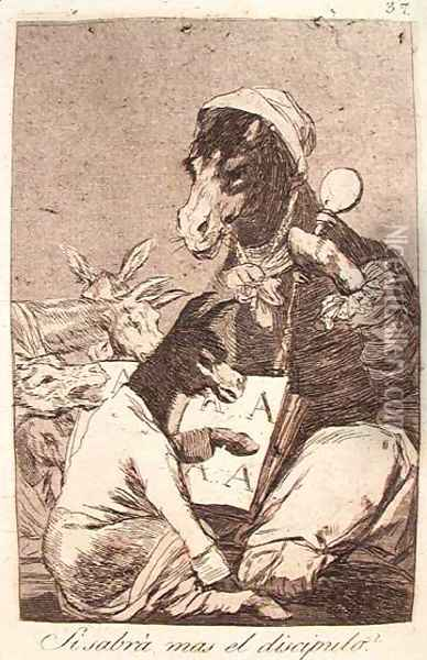 Might Not the Pupil Know More? Oil Painting - Francisco De Goya y Lucientes