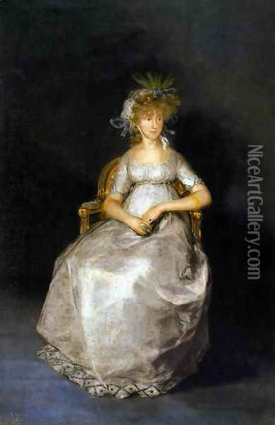 The Countess of Chinchón Oil Painting - Francisco De Goya y Lucientes