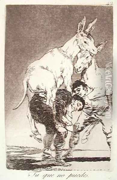 Thou Who Canst Not Oil Painting - Francisco De Goya y Lucientes